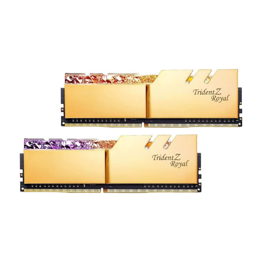 رم CL18 DDR4 جی اسکیل 64 گیگابایت 4000MHZ مدل TRIDENT Z ROYAL GOLD